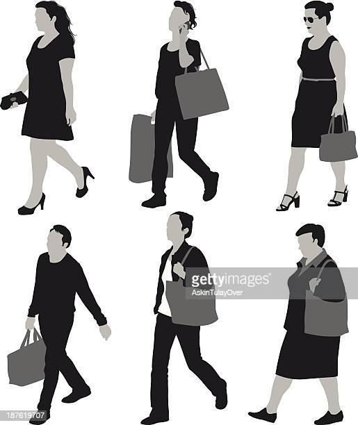 Frauen tragen Taschen