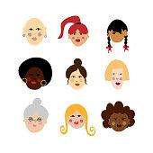 Women diversity illustration