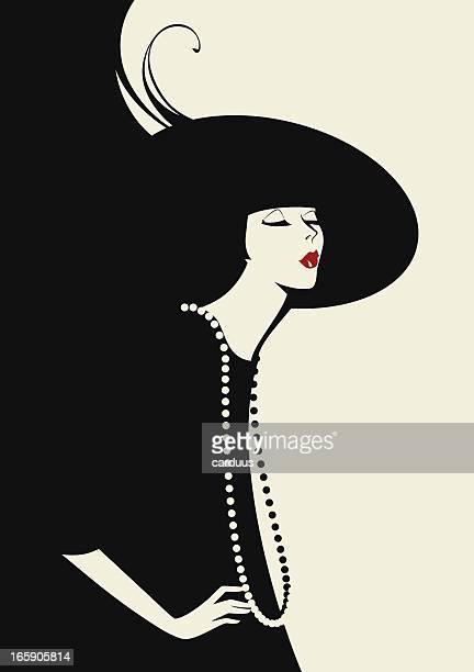Mujer en el sombrero negro