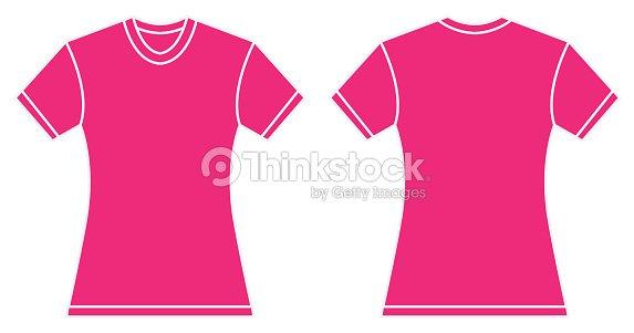 Women Pink Shirt Design Template Vector Art | Thinkstock
