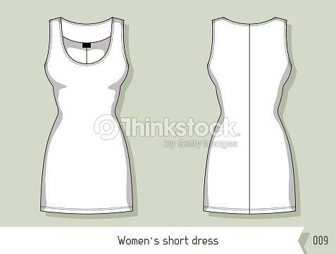 Women short dress template for design easily editable by layers women short dress template for design easily editable by layers vector art maxwellsz