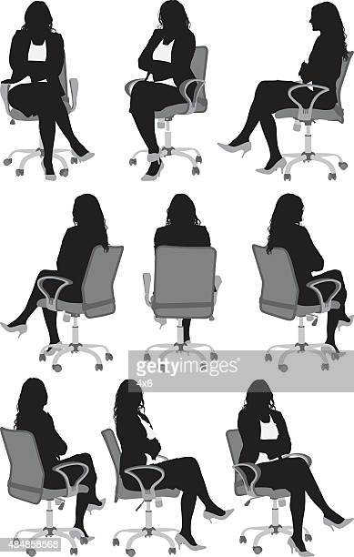Women sitting on chair