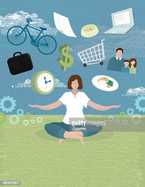 Frauen work-life-balance-Konzept
