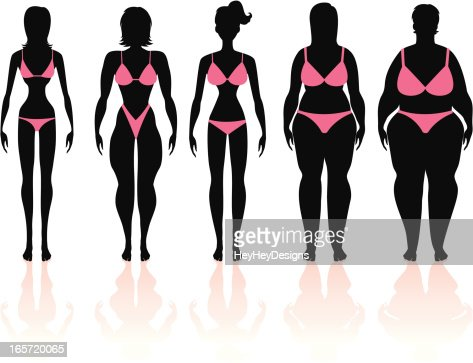 Women's Body Types Group 1 : Vector Art