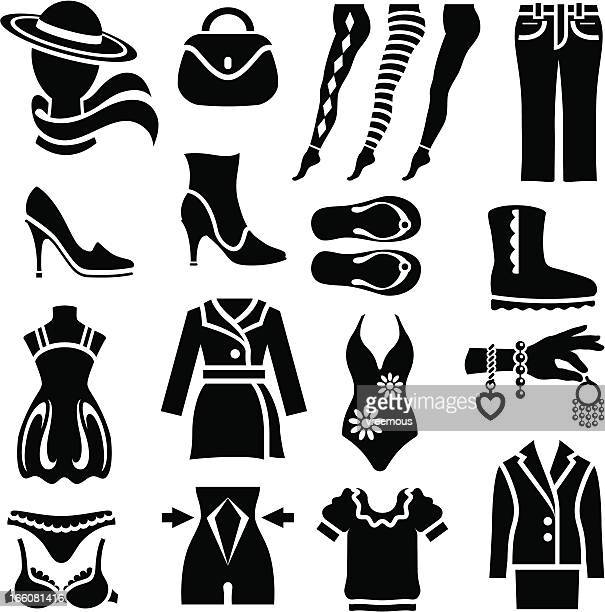 Women's Clothing Icons