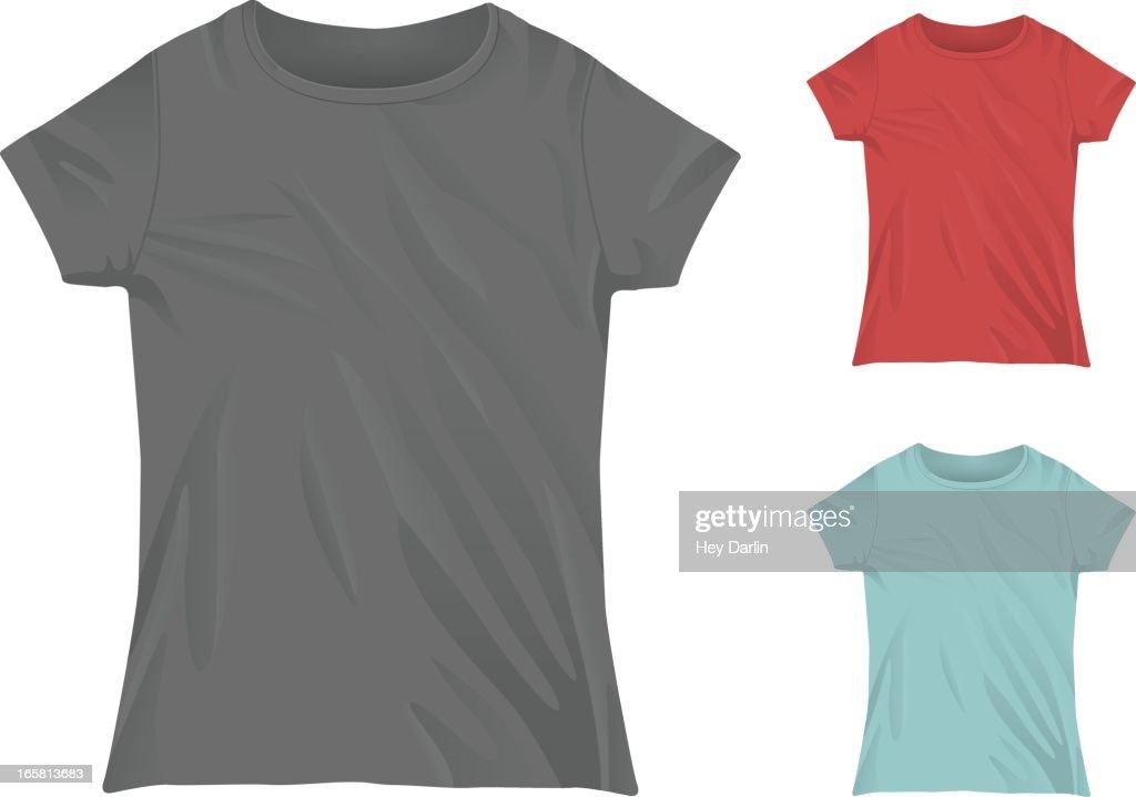 Womens Crewneck Tshirt Mockup Template Vector Art Getty