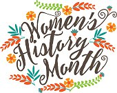 Women's history month design. EPS 10