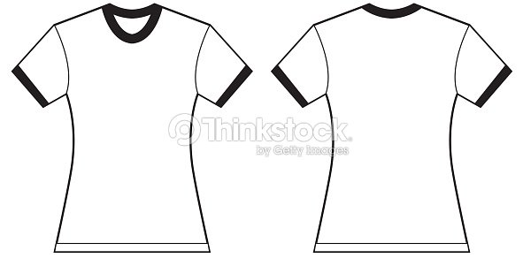 womens ringer tshirt design template vector art thinkstock. Black Bedroom Furniture Sets. Home Design Ideas