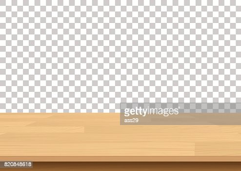 Wood table top on isolated background. Vector illustration : stock vector