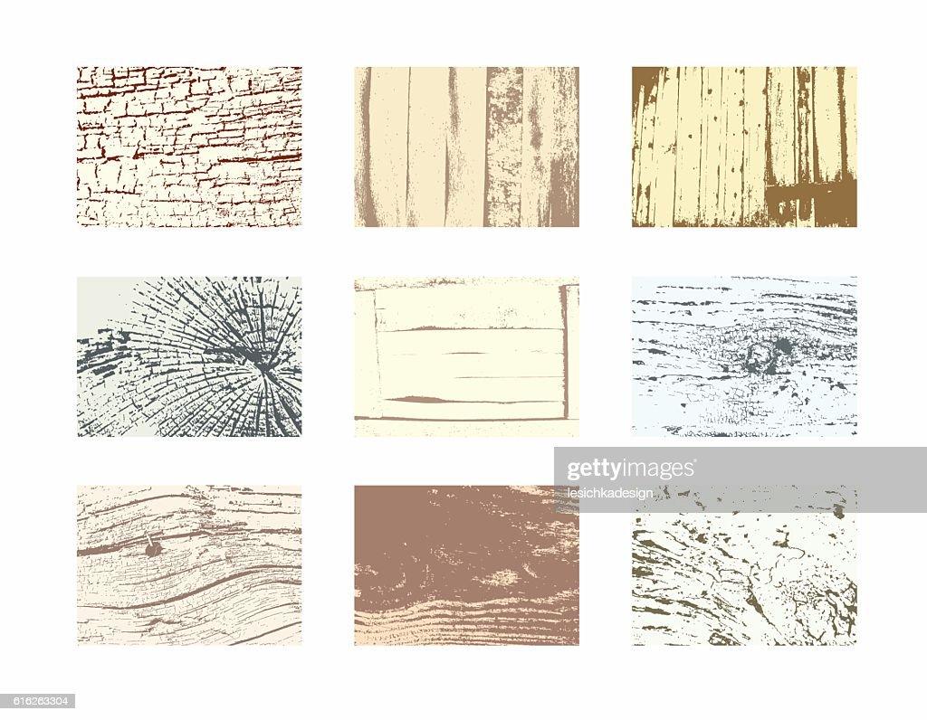 Wood textures vector set : Vector Art