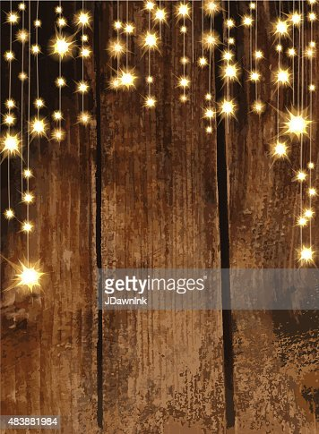 Rustic string lights tree country wedding invitation wedding - Wooden Background With String Lights Vector Art Getty Images