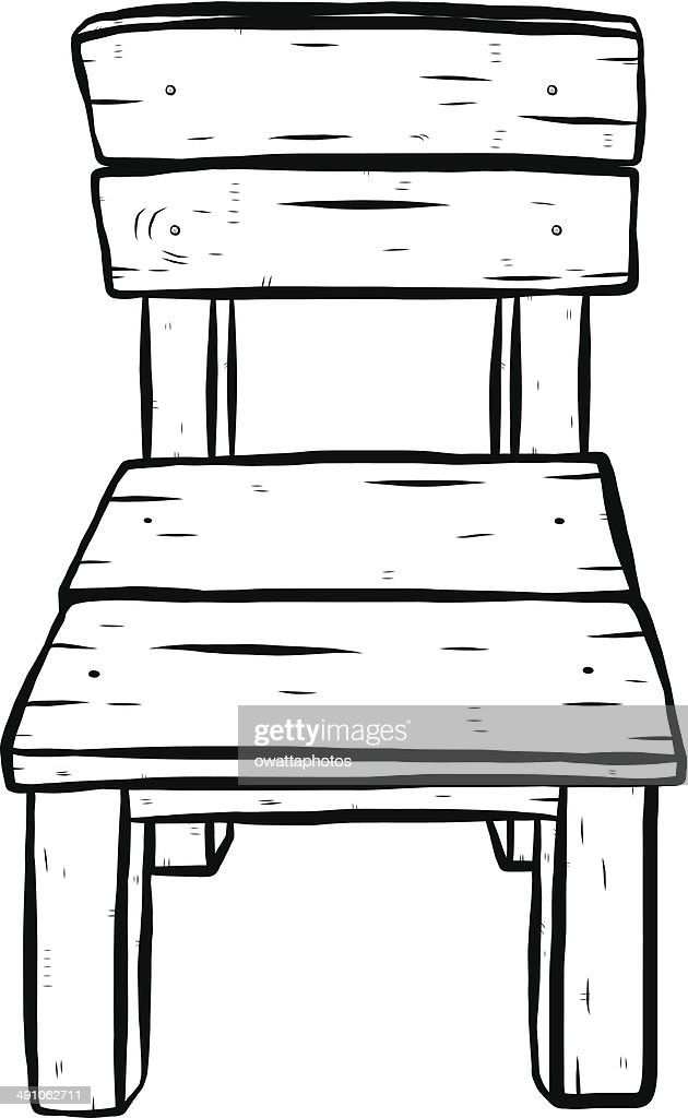 Wooden Chair Vector Art Getty Images