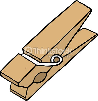 Wooden Clothespin stock vector - Thinkstock