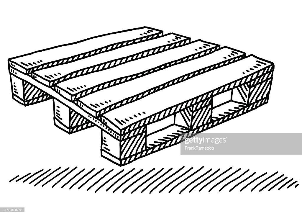 Europalette en bois dessin clipart vectoriel getty images - Palette a dessin ...