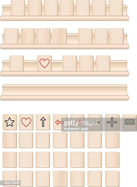 Wooden Gameboard Tiles