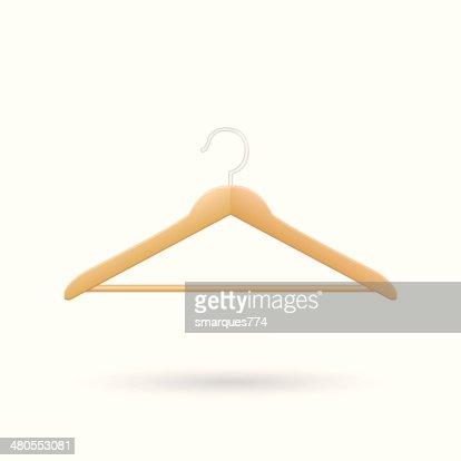 Wooden Hanger Vector Illustration : Vector Art