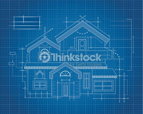 Wooden house blueprint vector art thinkstock wooden house blueprint vector art malvernweather Image collections