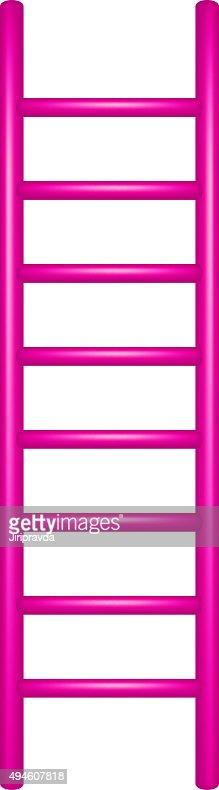 Wooden Ladder In Pink Design Vector Art Thinkstock