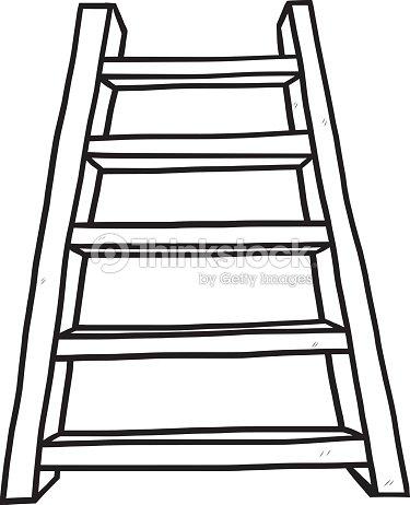 Wooden Ladder Vector Art
