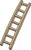 wooden ladder/ cartoon vector and illustration, hand drawn style, isolated on white background.