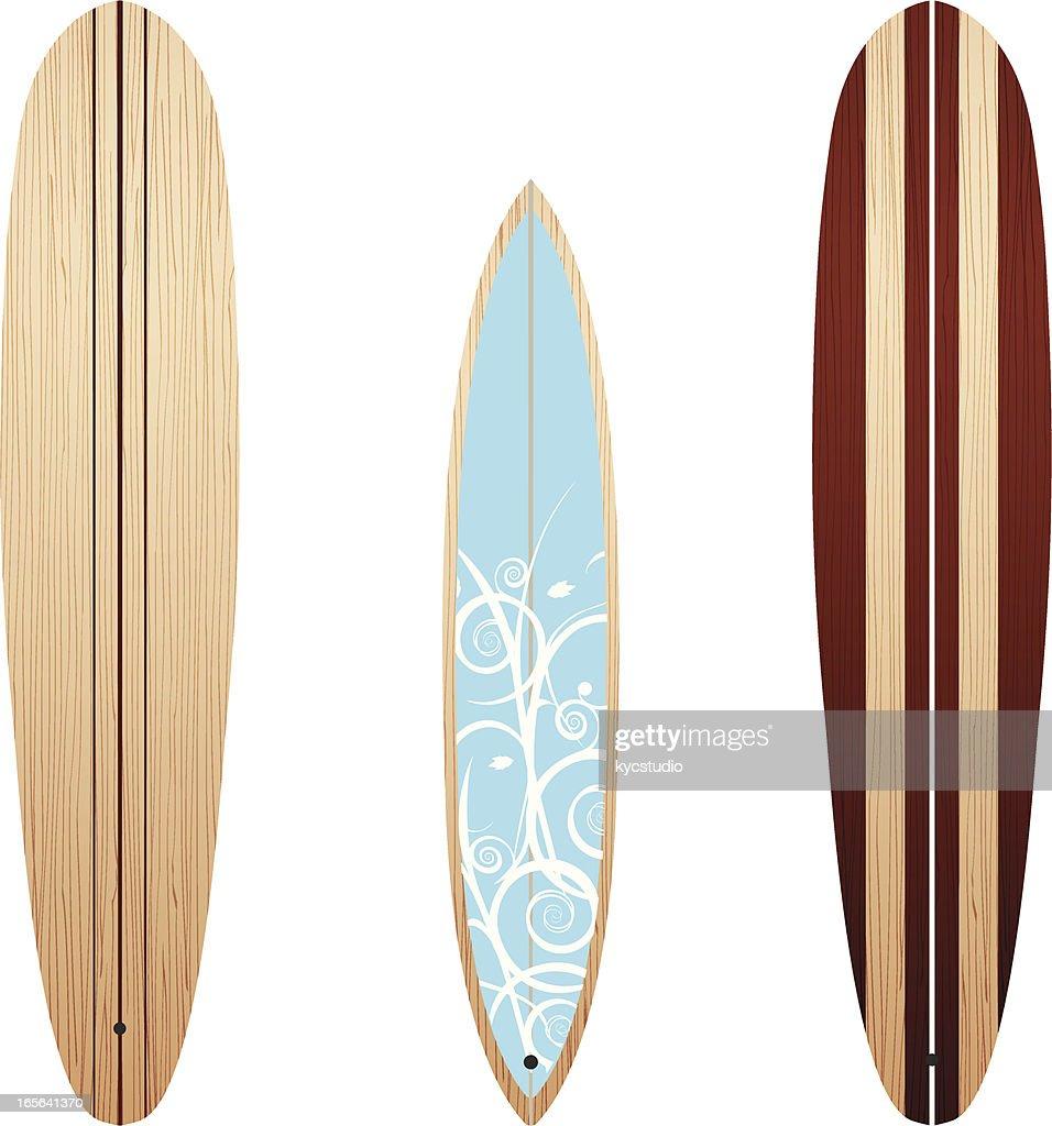 Wooden Longboards : Vector Art