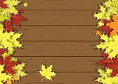 Wooden texture leaves vector