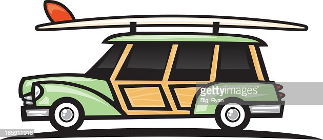 woodie surf wagn : Vector Art