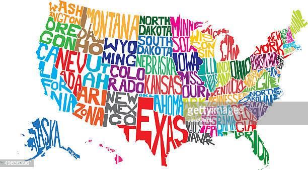 USA Word Map