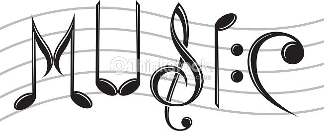 Word Music As Notes Vector Art Thinkstock