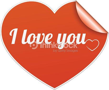 Words I Love You On Heart Symbol Vector Art Thinkstock