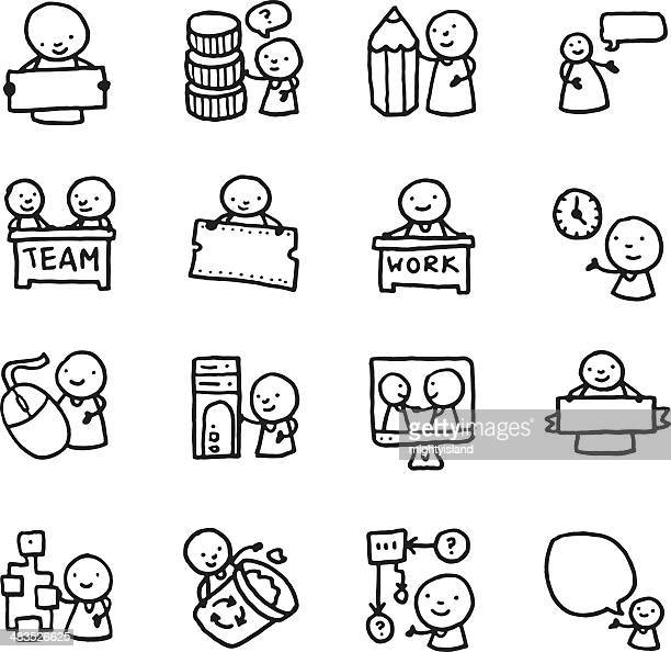 Document Management Drawing Stock Illustrations And