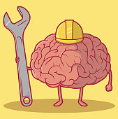 Conceptual illustration representing a working brain, ready to solve some problems!