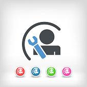Worker concept symbol icon