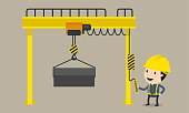 Vector illustration, Safety and accident, Industrial safety cartoon