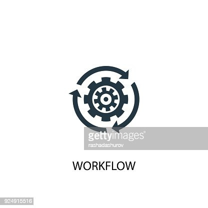 Workflow icon. Simple element illustration : stock vector