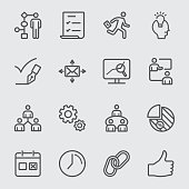 Workflow line icon