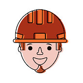 colorful  working man  over white background  vector illustration