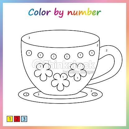 Hoja De Trabajo Para La Educación Página De Pintura Color Por ...