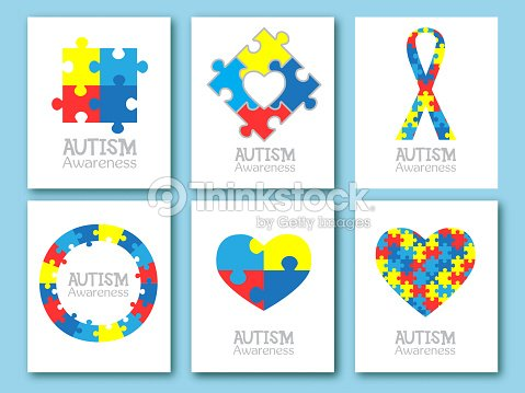 World autism awareness day colorful puzzle symbol of autism vector colorful puzzle symbol of autism vector illustration medical flat illustration health care set of card invitation poster design template maxwellsz