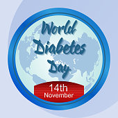 Vector illustration of World diabetes day awareness poster