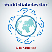 Vector illustration of World Diabetes Day Concept
