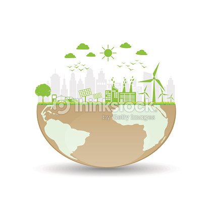 World Ecology Friendly And Sustainable Concept Vector Art Thinkstock