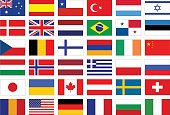 vector illustration of World flags