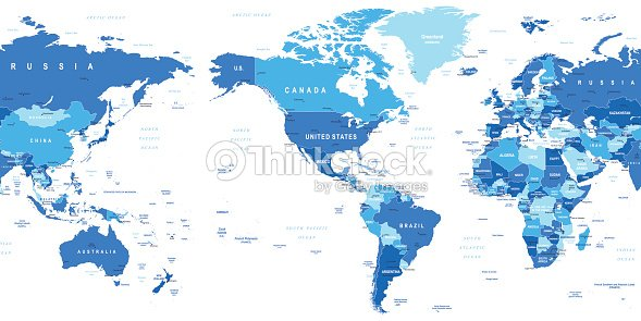 World map america in center vector art thinkstock world map america in center vector art gumiabroncs Choice Image