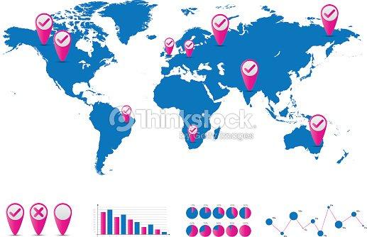 World map and graph bar infographic set vector art thinkstock world map and graph bar infographic set vector art gumiabroncs Gallery