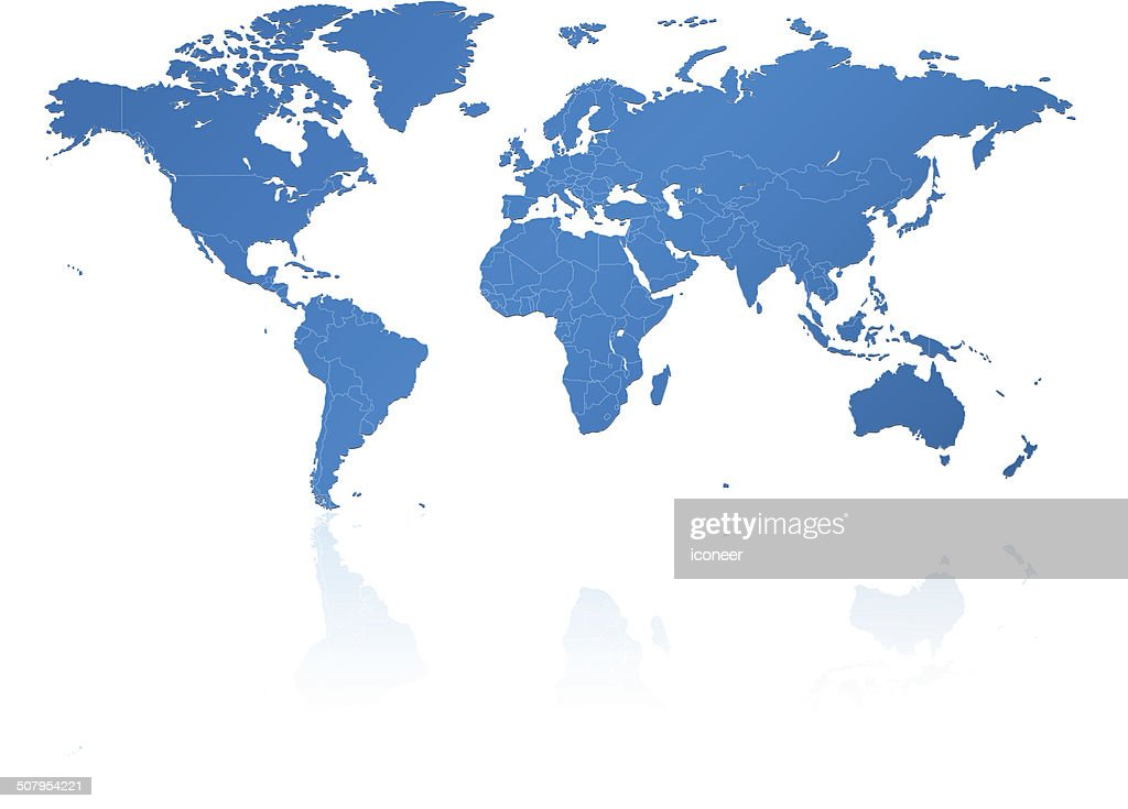 World Map Outline With Countries Vector Art Getty Images - World map of countries