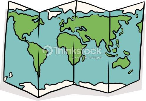 world map cartoon vector art