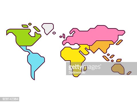 World map continents : Arte vetorial