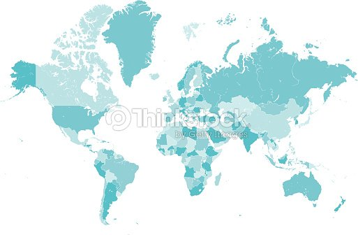 World map countries blue vector vector art thinkstock world map countries blue vector vector art gumiabroncs Choice Image