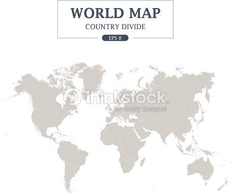 World map country divide on white background grey color vector art world map country divide on white background grey color vector art gumiabroncs Choice Image